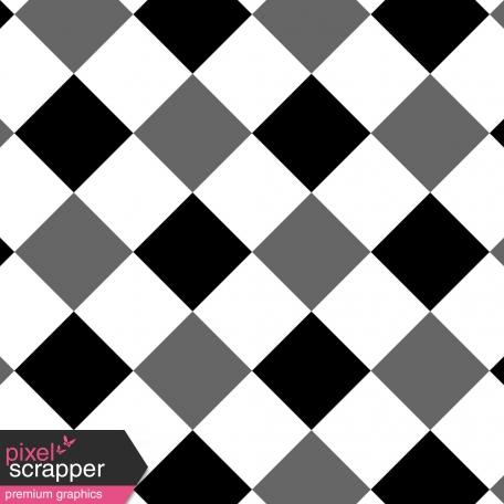 Gingham Paper Template - 2 Inch Squares, Diagonal