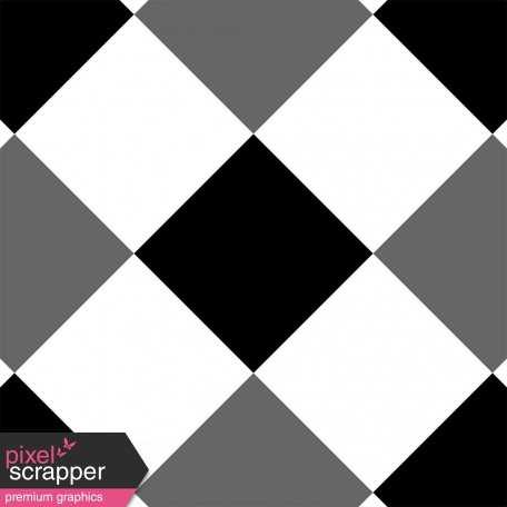 Gingham 4 Inch Squares - Diagonal - Paper Template