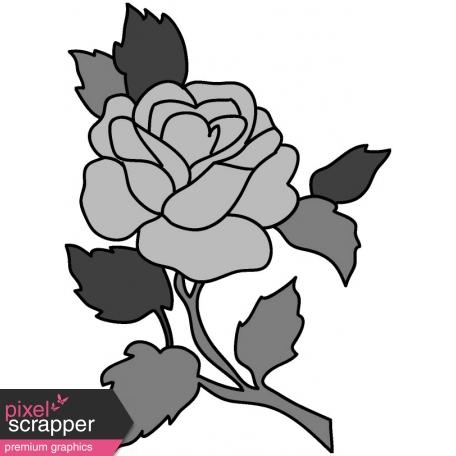 Rose Illustration Template