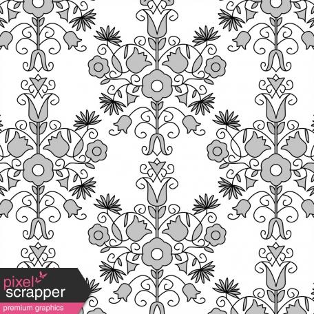 Paper 179 Damask Template Graphic By Marisa Lerin Pixel Scrapper