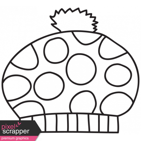 Brush #30 C - Winter Hat graphic by Marisa Lerin | Pixel Scrapper ...