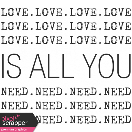 Wedding Words - Love Is All You Need