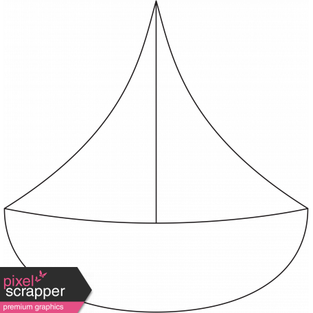 Ocean - Sailboat Illustration