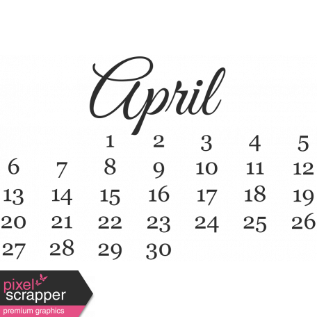 Dates - April Mini Calendar