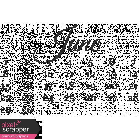 Dates - June Mini Calendar