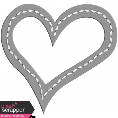 Layered Stitched Heart Frame Template