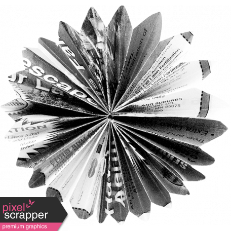 Accordion Flower Template 017