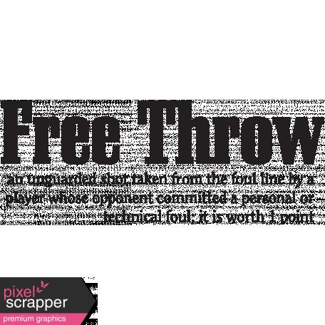 Basketball Word Art Free Throw