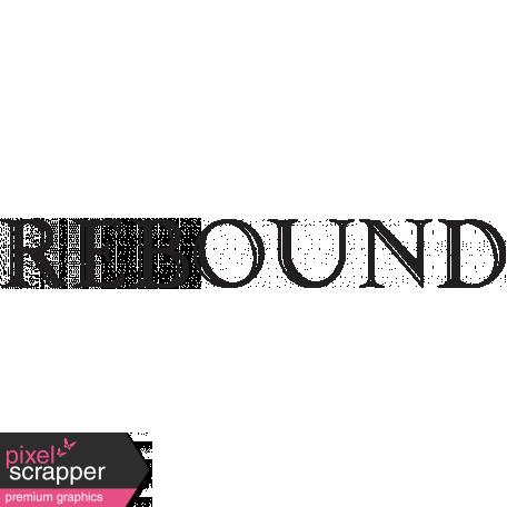 Basketball Word Art Rebound