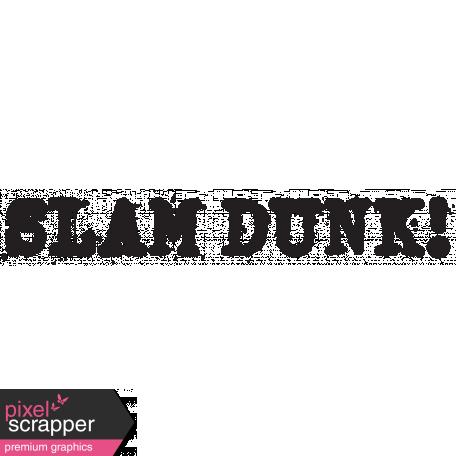 Basketball Word Art Slam Dunk