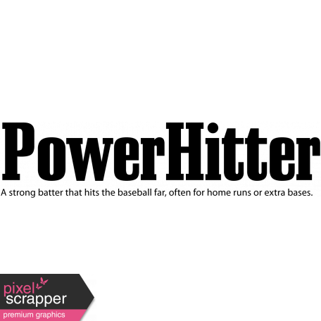 Baseball Word Art Power Hitter