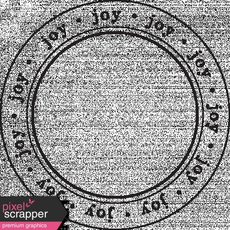 Enchanted - Joy Circle Stamp