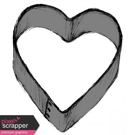 Cookie Cutter Heart Template