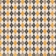 No Tricks, Just Treats- Brown Argyle Paper