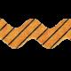 No Tricks, Just Treats- Orange and Black Striped Ribbon