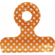 No Tricks, Just Treats- Orange and White Polkadot Clip