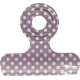 No Tricks, Just Treats- Purple and White Polkadot clip