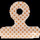 No Tricks, Just Treats- White and Orange Polkadot Clip