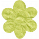 No Tricks, Just Treats- Green Solid Flower