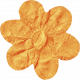 No Tricks, Just Treats- Orange Solid Flower