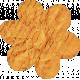 No Tricks, Just Treats- Orange Vintage Writing Flower