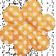 No Tricks, Just Treats- Orange and White Polkadot Flower