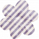 No Tricks, Just Treats- Purple and White Striped Flower