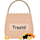 No Tricks, Just Treats Bag Of Treats Sticker