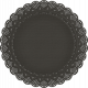 No Tricks, Just Treats- Black Doily