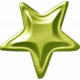 No Tricks, Just Treats-Green Metal Star