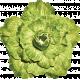 No Tricks, Just Treats-Solid Green Vintage Flower