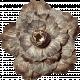 No Tricks, Just Treats-Solid Brown Vintage Flower