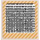 No Tricks, Just Treats-Orange And White Striped Frame