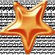 No Tricks, Just Treats-Orange Metal Star