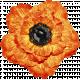 No Tricks, Just Treats-Orange And Black Vintage Flower