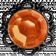 No Tricks, Just Treats-Orange Vintage Jewel