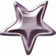 No Tricks, Just Treats-Purple Metal Star