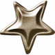 No Tricks, Just Treats-Brown Metal Star