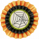 No Tricks, Just Treats-Web Accordion Burlap Flower