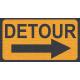 "Speed Zone Elements Kit - ""Detour"" Sign"