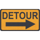 "Speed Zone Elements Kit- ""Detour"" Sign"