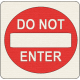 """Speed Zone Elements Kit- """"Do Not Enter"""" Sign"""