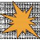 Speed Zone- Orange Bomb Sticker