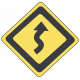 Speed Zone Elements Kit- Curves Ahead Sign