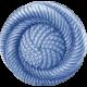 My Baptism- Blue Twirl Button