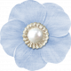 My Baptism- Light Blue Flower