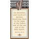 My Baptism- Striped Ribbon Tag