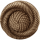 My Baptism- Brown Twirl Button