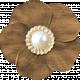 My Baptism- Brown Flower