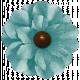 Turkey Time- Blue Flower